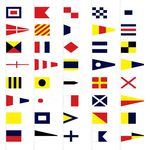 Signal Flag Set - Size 6 Finished with Line Snap and Ring