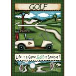 Going Golfing House Flag