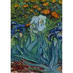 Van Gogh's Iris House Flag