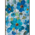 Oil Painted Blue Poppies And Lilies House Flag