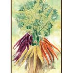 Watercolor Carrots House Flag