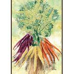 Watercolor Carrots House Flag