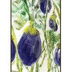 Watercolor Eggplants House Flag