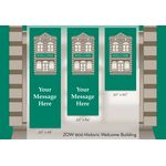 30 x 60 in. Seasonal Banner Historic Welcome Building