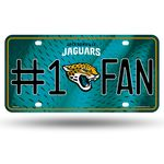 Jaguars #1 Fan Primary Logo Metal Logo Metal Car Tag