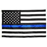 3ft. x 5ft. Thin Blue Line US Flag Nylon Sewn