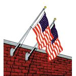 9ft. Wall-Mount Aluminum Flagpole Set