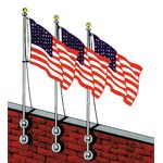 9 ft. Vertical Wall Aluminum Flagpole