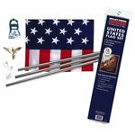 3 ft. x 5 ft. Polycotton U.S. Flag with Steel Pole Set