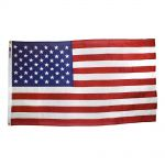 5ft. x 9-1/2ft. US Cotton Flag Fully Sewn Memorial Flag