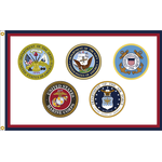 2ft. x 3ft. Armed Forces Flag