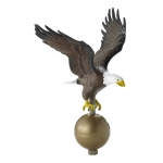 19 in. Large Flagpole Eagle Natural Colors