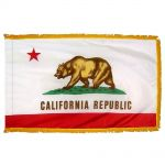 4ft. x 6ft. California Fringed with Side Pole Sleeve