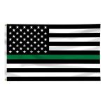 3ft. x 5ft. Thin Green Line US Flag