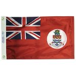 2ft. x 3ft. Cayman Islands Civil Flag with White Disk