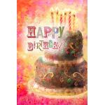 Layer Cake Birthday House Flag