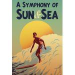 Surf Sun Sea House Flag