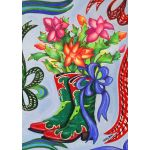 Christmas Cactus Boots House Flag