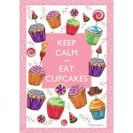 Keep Calm and Eat Cupcakes House Flag