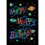 Birthday Rocket Double Sided House Flag