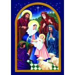 Nativity Night House Flag