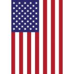 28 in. x 40 in. USA House Flag