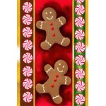 Gingerbread Men House Flag
