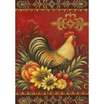 Fall Rooster Garden Flag