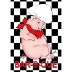 BBQ Pig House Flag