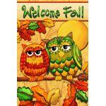 Fall Owls Garden Flag