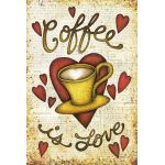 Coffee Is Love House Flag