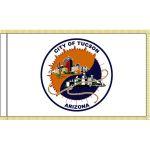 3ft. x 5ft. City of Tuscon Arizona Flag w/ Gold Fringe