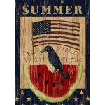 Summer Watermelon House Flag