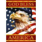 God Bless America House Flag