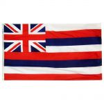 Size 8 Hawaii Flag with Canvas Header & Brass Grommets