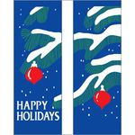 30 x 60 in. Seasonal Banner Tree Branches & Ornaments-DBL Sided Design
