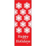 30 x 60 in. Holiday Banner Happy Holidays Snow flakes