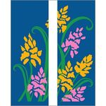 30 x 60 in. Seasonal Banner Yellow & Pink Flowers-Double Sided Design