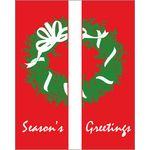 30 x 60 in. Holiday Banner Season's Greeting Wreath-DBL Sided Design