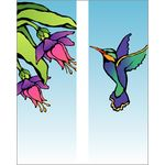 30 x 60 in. Seasonal Banner Hummingbird-Double Sided Design