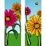 30 x 60 in. Seasonal Banner Gerber Daisies-Double Sided Design