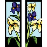 30 x 96 in. Seasonal Banner Iris-Double Sided Design