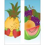 30 x 60 in. Seasonal Banner Summer Fruit-Double Sided Design