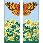 30 x 60 in. Seasonal Banner Butterfly & Daisies-Double Sided Design
