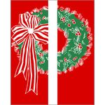 30 x 60 in. Holiday Banner Double Wreath-Double Sided Design