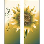 30 x 96 in. Seasonal Banner Summer Sizzle Sunflower-Double Sided