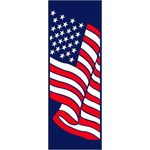 30 x 84 in. Seasonal Banner Stars & Stripes Canvas