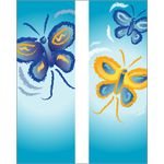30 x 96 in. Seasonal Banner Butterflies-Double Sided Design