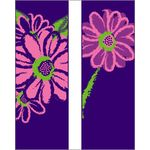 30 x 60 in. Seasonal Banner Pink Daisy-Double Sided Design C