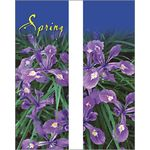 30 x 96 in. Seasonal Banner Spring Beauty Siberian Iris-DBL Sided
